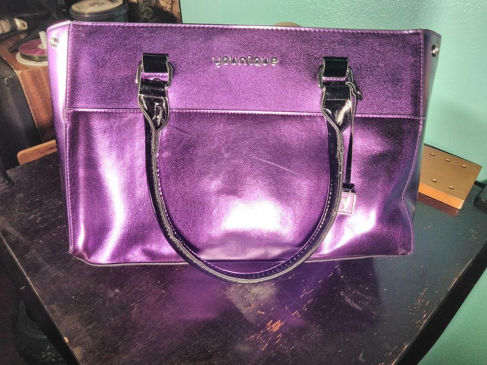 2018 Younique Presenter Purple Makeup Bag/ Handbag Good