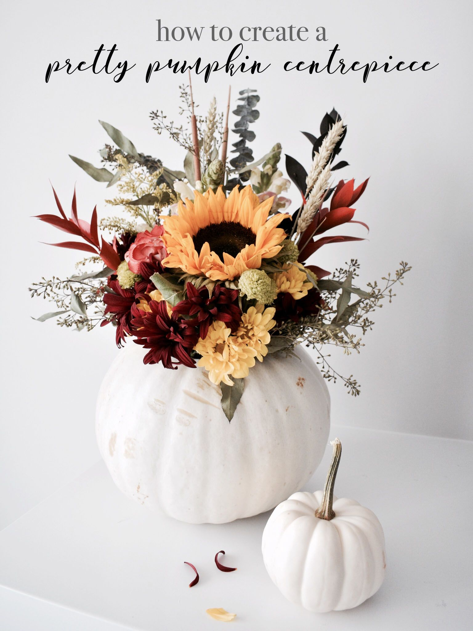 diy pretty pumpkin centrepiece halloween thanksgiving and autumn rh pinterest com