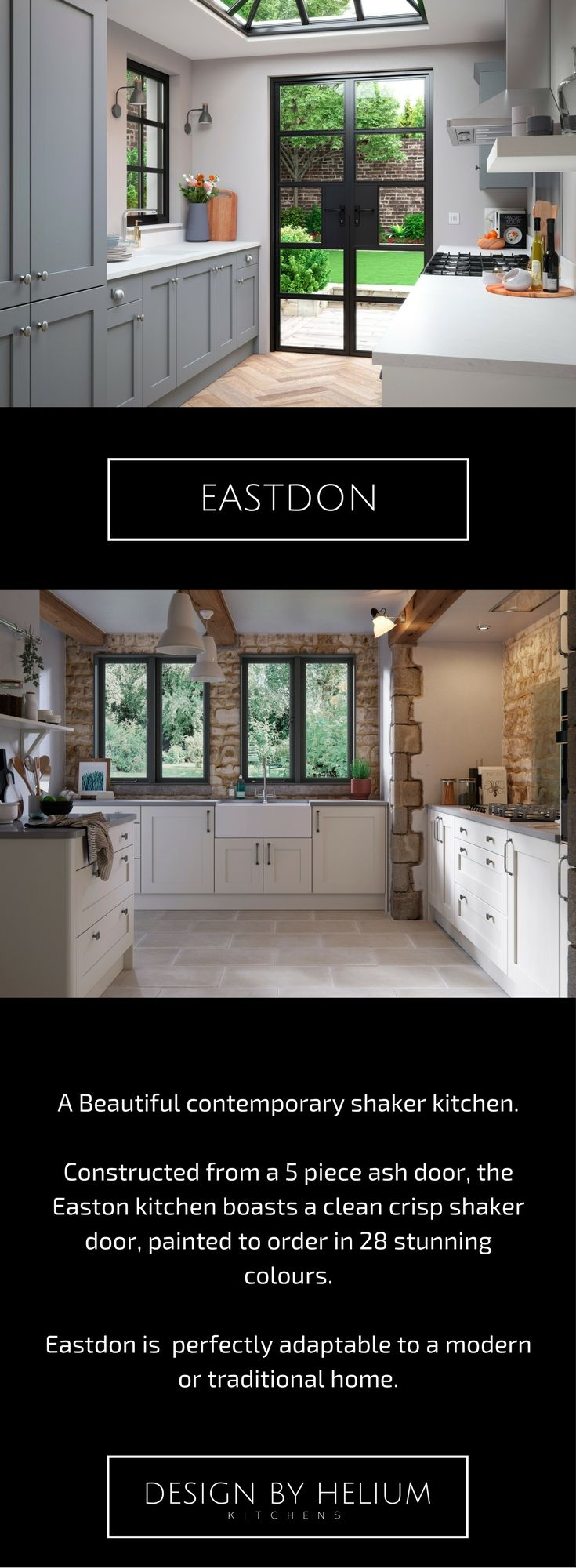 EASTON Beautiful contemporary shaker kitchen The