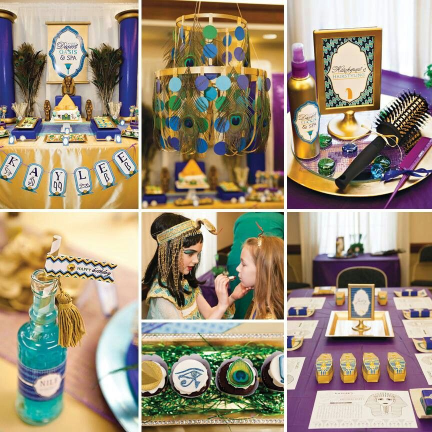 Check Out This Highly Styled Egyptian Party Oasis