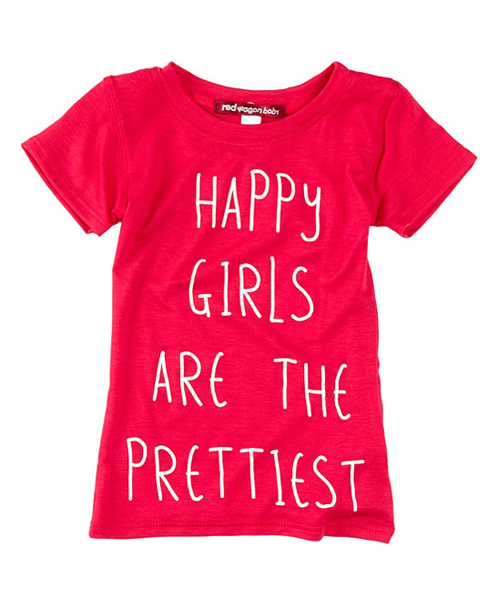 Look at this Fuchsia 'Happy Girls' Fitted Tee - Infant, Toddler & Girls on #zulily today!