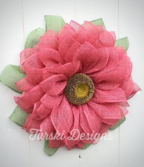 Photo of Sunflower Wreath, Fuchsia Flower Wreath, Fuchsia Wreath, Spring Wreath, Fuchsia Wreath, Pink Flower