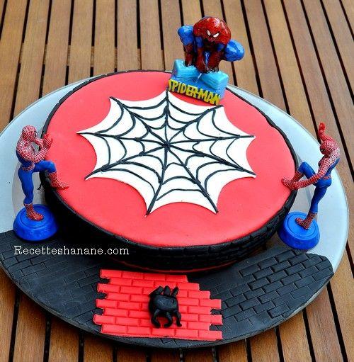 gateau-anniversaire-spiderman | desserts/gâteaux enfants