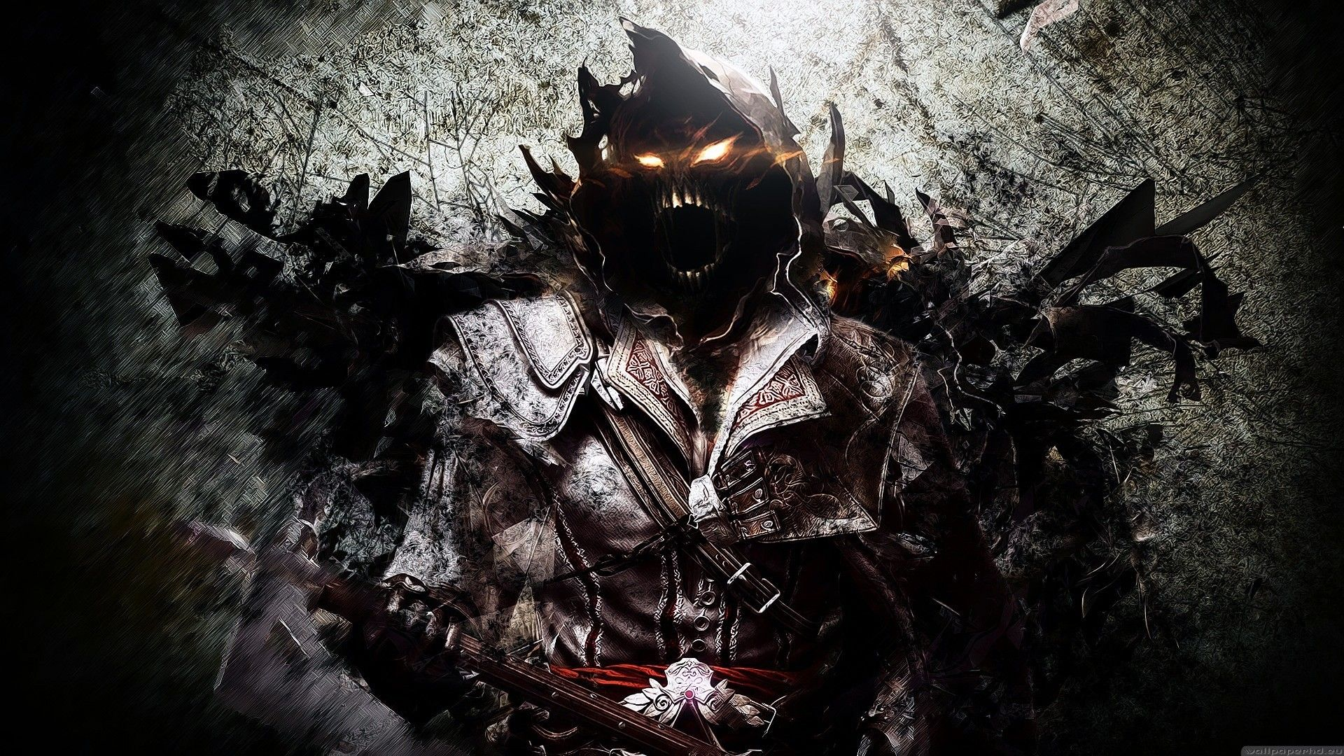 Disturbed Logo Face Wallpaper Dark Evil Heavy Metal Art Disturbing