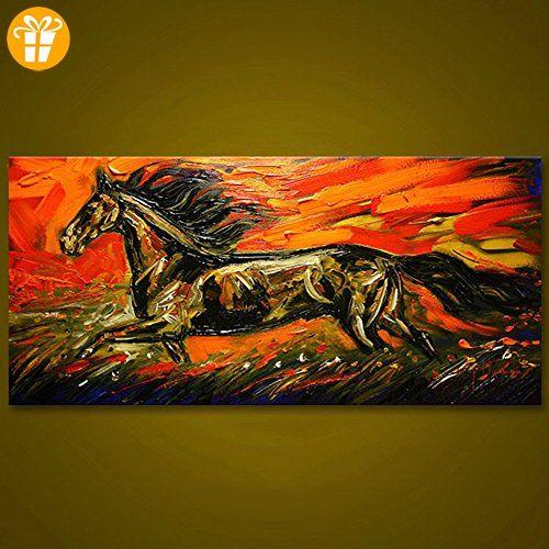 wetercos (TM) ungerahmt Running Horse Tiere Ölgemälde groß modern - wohnzimmer bilder abstrakt