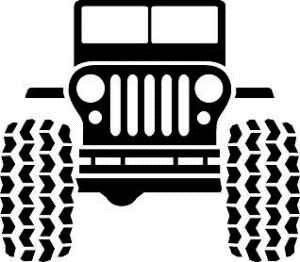 Download Jeep clip art for cup inserts and iron on transfers | Jeep ...