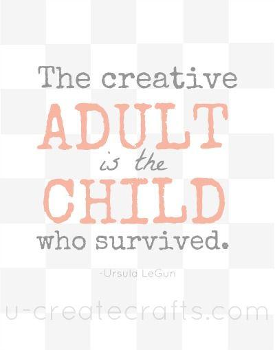 Free Print: The Creative Adult #thegreatpinteresthunt