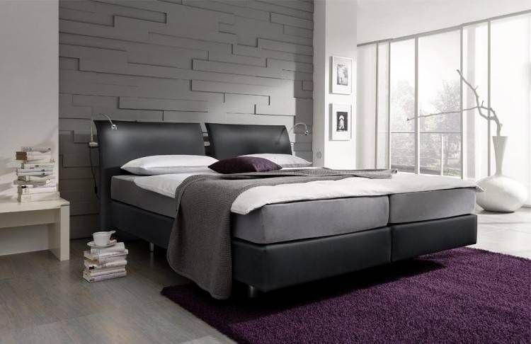 Schlafzimmer Mit Boxspringbett in 2020   Boxspringbett