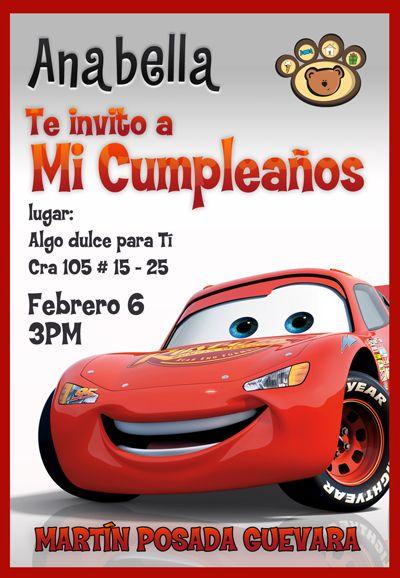 Tarjetas Cumpleaños Rayo Mcqueen Para Imprimir