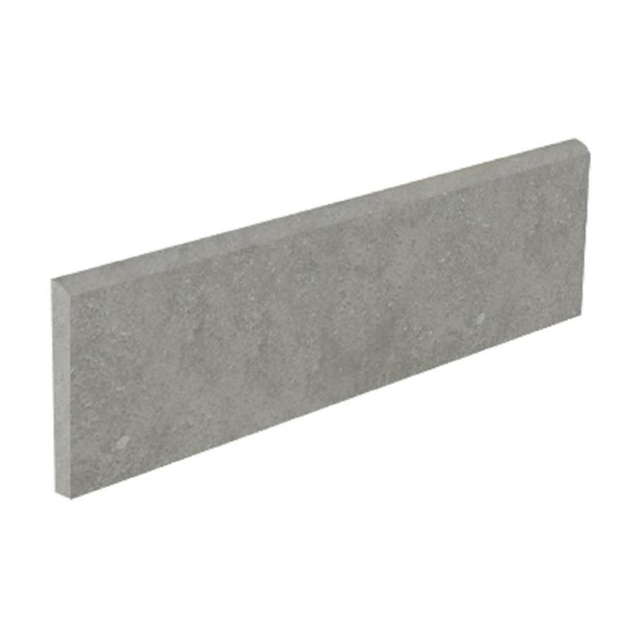 Style Selections Mitte Gray Porcelain Bullnose Tile Common 3 In X 12 In Actual 3 15 In X 11 81 In Lowes Com Bullnose Tile Porcelain Flooring Porcelain Tile