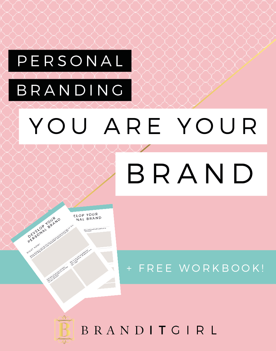 Did you know that you are actually your own unique, wonderful brand? Well, you are! It's called personal branding and you should be all over it, Ladyboss! Find out how you can develop your personal brand and use my FREE downloadable workbook too! Click through and download your copy today! #branding #brand #personalbranding #workbook