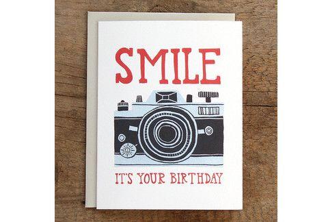 Birthday Smile Camera Card
