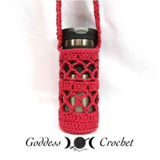 Free Crochet Pattern What A Mesh Water Bottle Holder Crochet