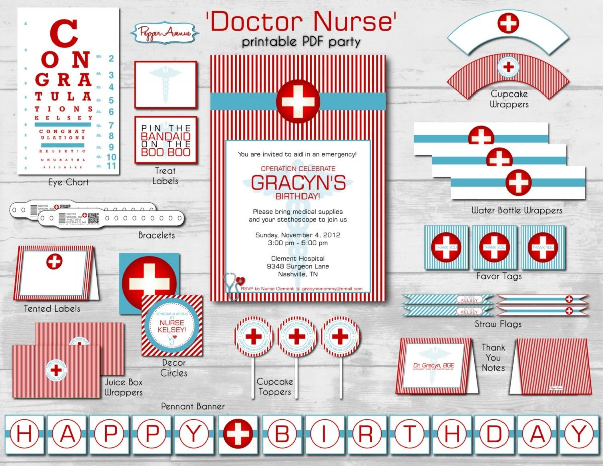 Nursing Graduation Party Invitations