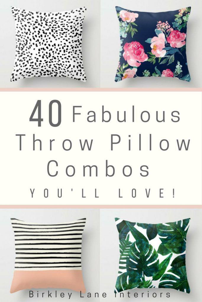Decorative Pillow Combinations
