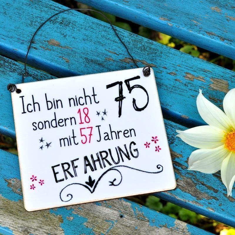 Schild Zum 75 Geburtstag Zahl Auch Abwandelbar Geburtstag