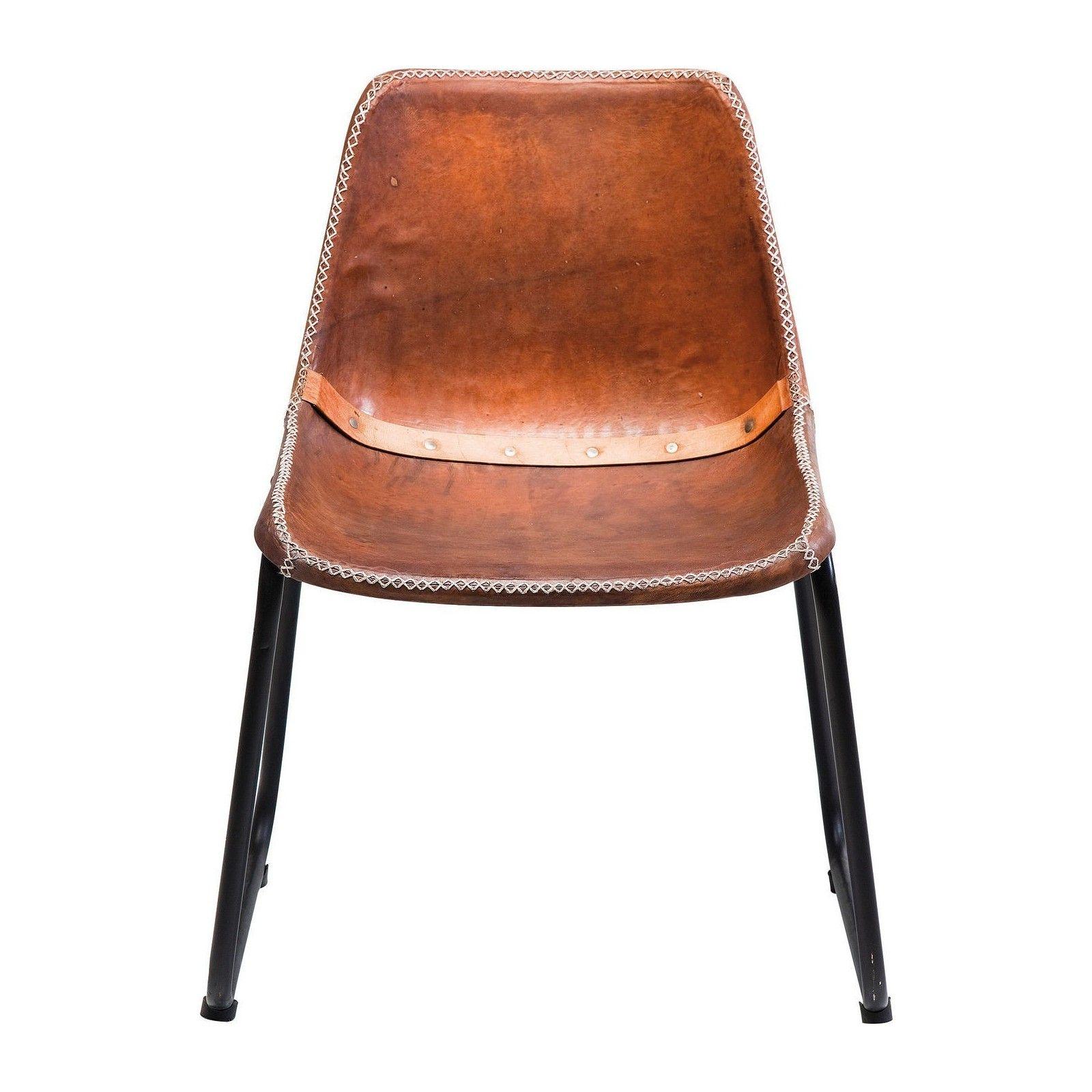 Chaise Vintage cuir marron Kare Design (avec images