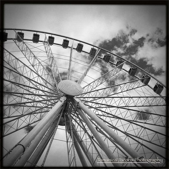 8x8 the great wheel landscape photography fine art black and white print