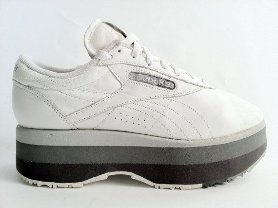 c212579cae8 RARE    90 s Mega Platform Reebok Sneakers by RIDETHENOWAVE