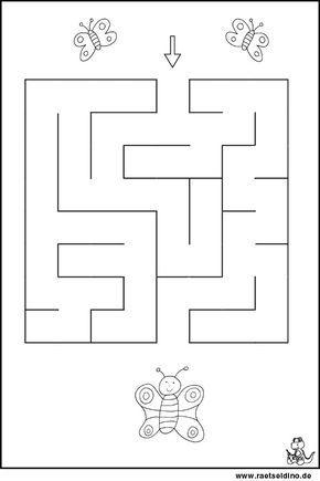 labyrinth r tsel f r kindergartenkinder arbeitsbl tter und. Black Bedroom Furniture Sets. Home Design Ideas