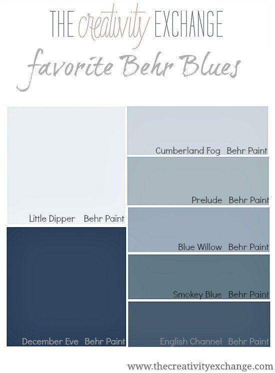 favorite behr blues paint it monday the creativity exchange features behr smokey blue and. Black Bedroom Furniture Sets. Home Design Ideas
