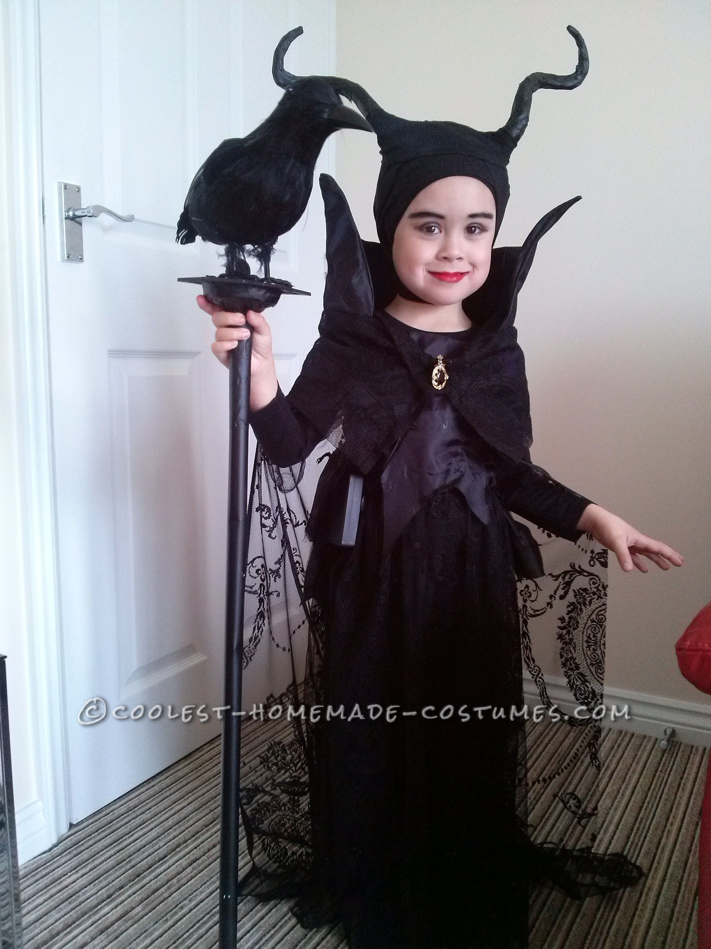 our own 4 year old maleficent | halloween | halloween costumes