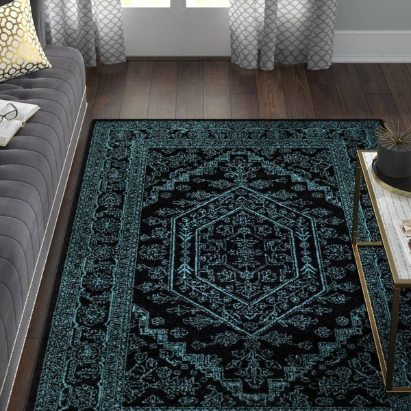 Connie Black Teal Area Rug Teal Area Rug Teal Bedroom Rustic