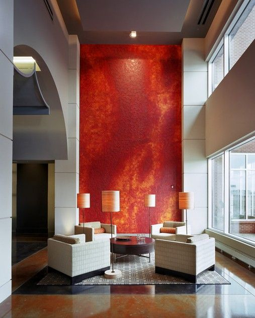 What S Trending Accent Walls The Interior Collective Living Room Red Wall Design Interior Design Living Room #wall #design #living #room #ideas