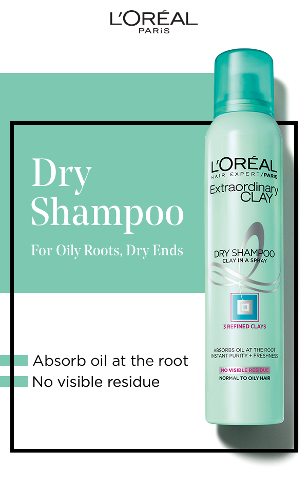 Say Hello To Your New Favorite Dry Shampoo Featuring Extraordinary Clay Oily Roots And Dry Ends Are No Match For Shampoo Dry Shampoo Dry Shampoo Hairstyles
