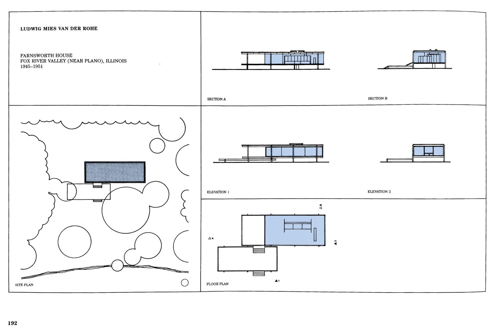 farnsworth house illinois floor plan. Black Bedroom Furniture Sets. Home Design Ideas