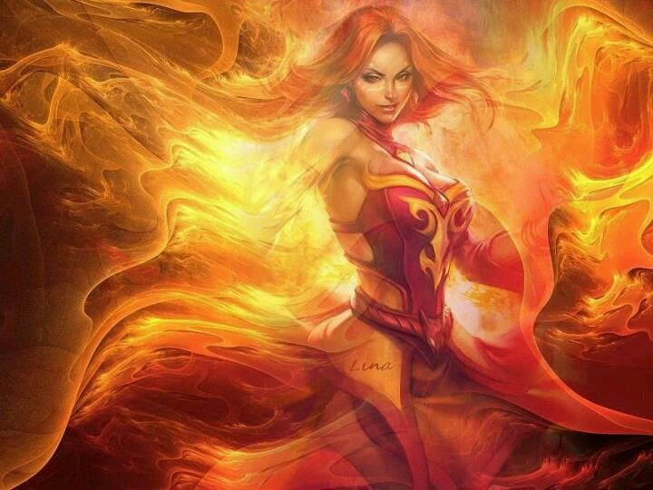 Fantasy Art Fire Woman