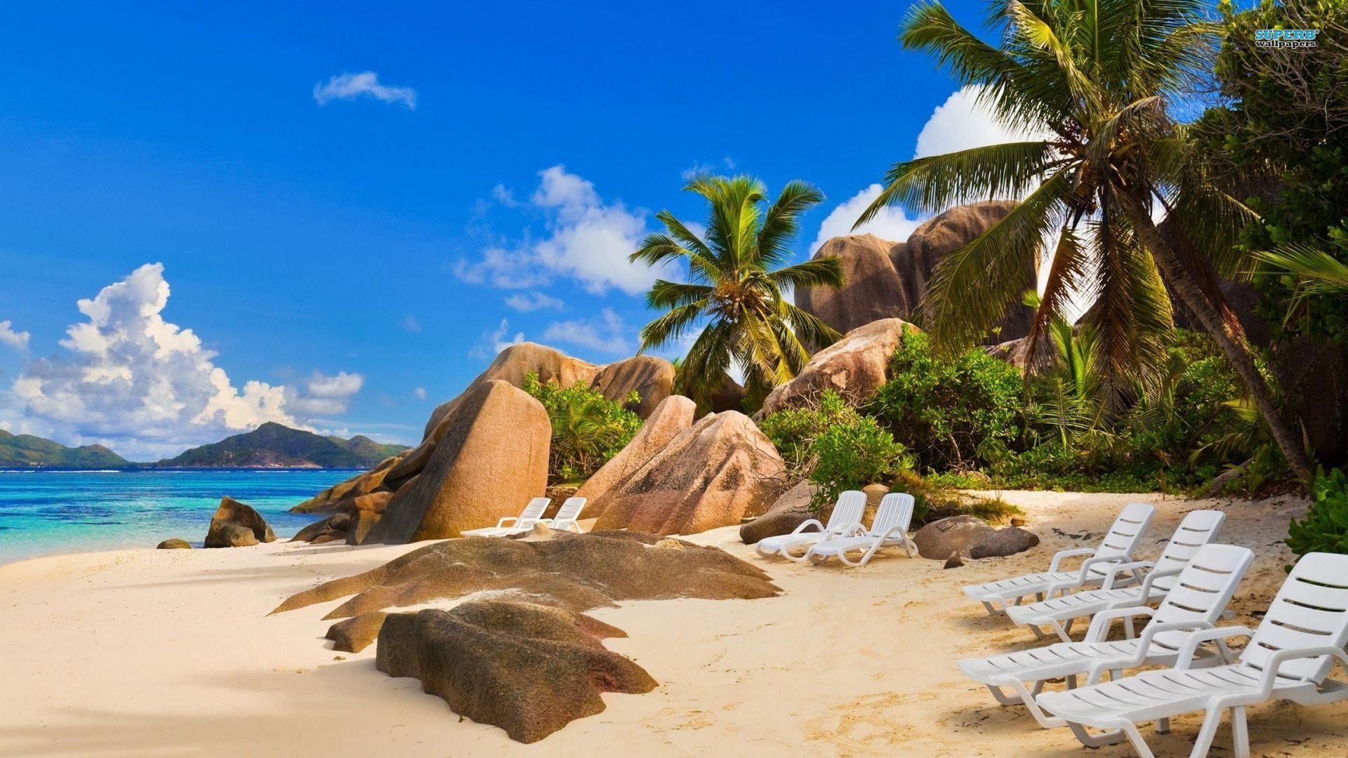 La Digue Island Wallpaper Desktop 3d Wallpapers Beach