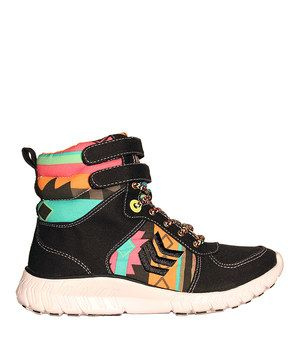 Another great find on #zulily! Black Wonderwall Hi-Top Sneaker - Women by TigerBear Republik #zulilyfinds