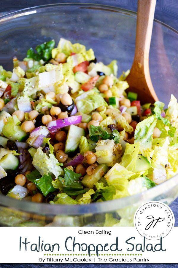 Clean Eating Italian Chopped Salad