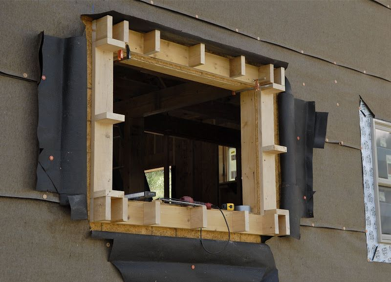 Window Bump Out Framing Exterior Remodel Mobile Home Exteriors House Exterior