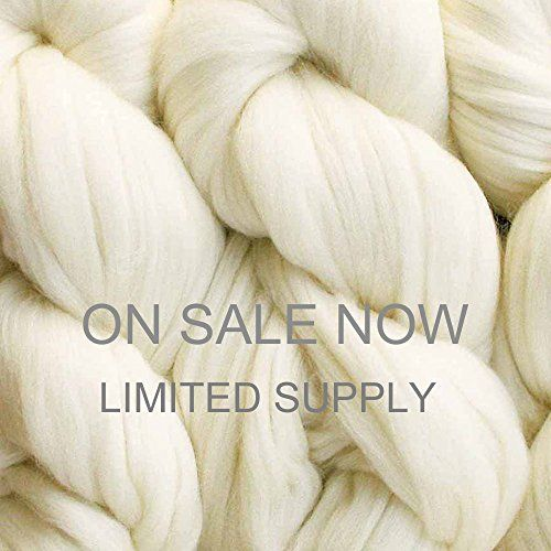 Living Dreams Merino Superwash Super Bulky Yarn Pencil Roving Wool for Needle Knitting Crochet and Hand Dying 4 Ounce 65 Yards Natural Undyed ** Visit the image link more details. Note:It is affiliate link to Amazon. #repost