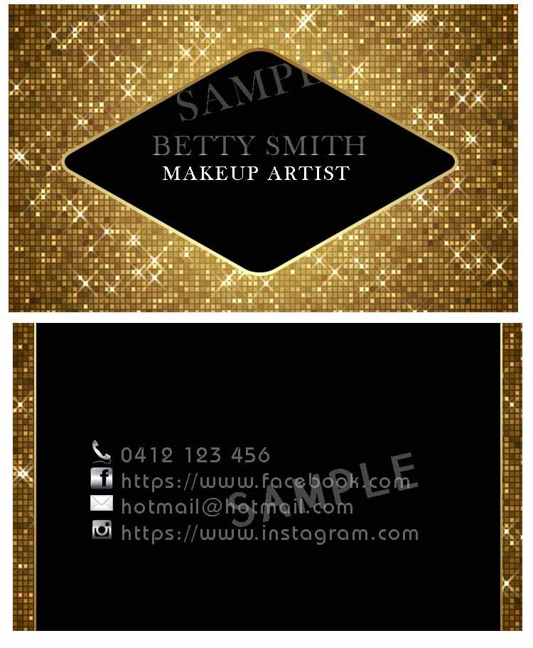 Business Card sample No. 5 For Sale. Front and Back