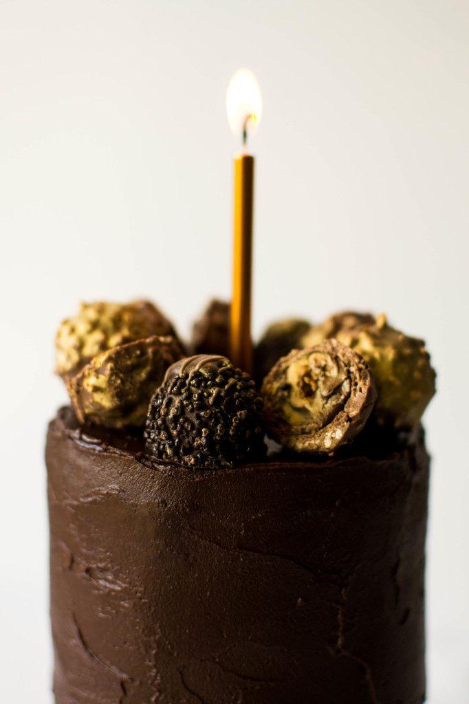 Dark Ganache And Marzipan Birthday Cake Recipe Sweet Treats