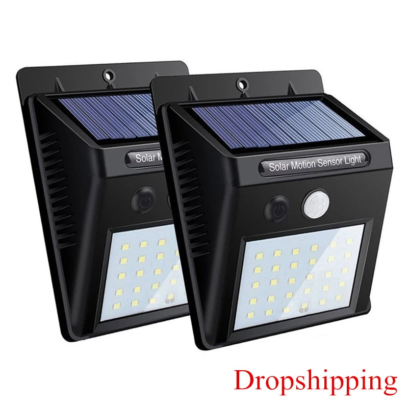 3 4 Pcs Outdoor Solar Light Pir Motion 30 Leds Sensor Solar Wall Lamp In 2020 Outdoor Solar Lights Solar Lights Garden Solar Lamp