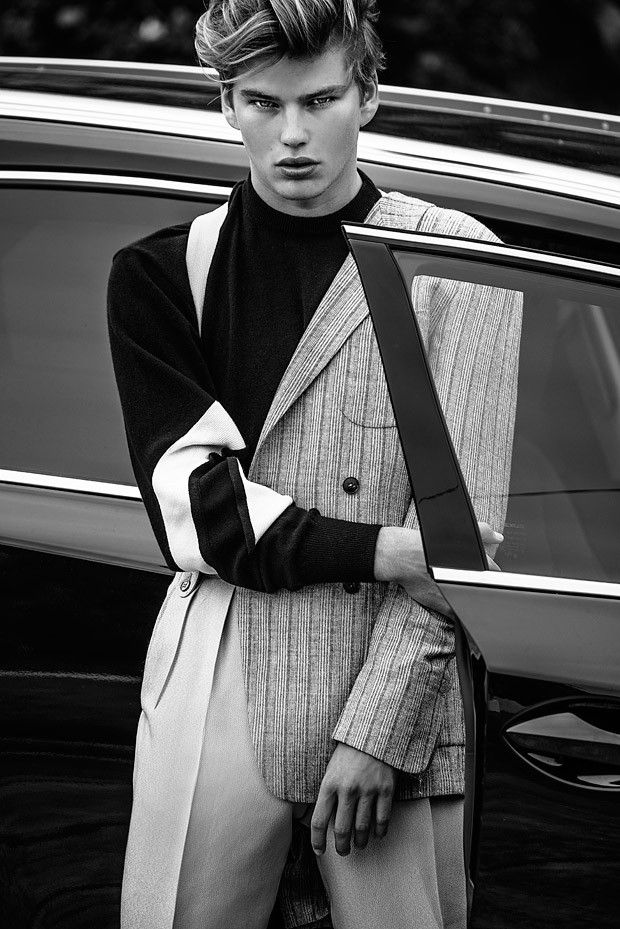 Jordan Barrett at IMG Models by Margaret Zhang