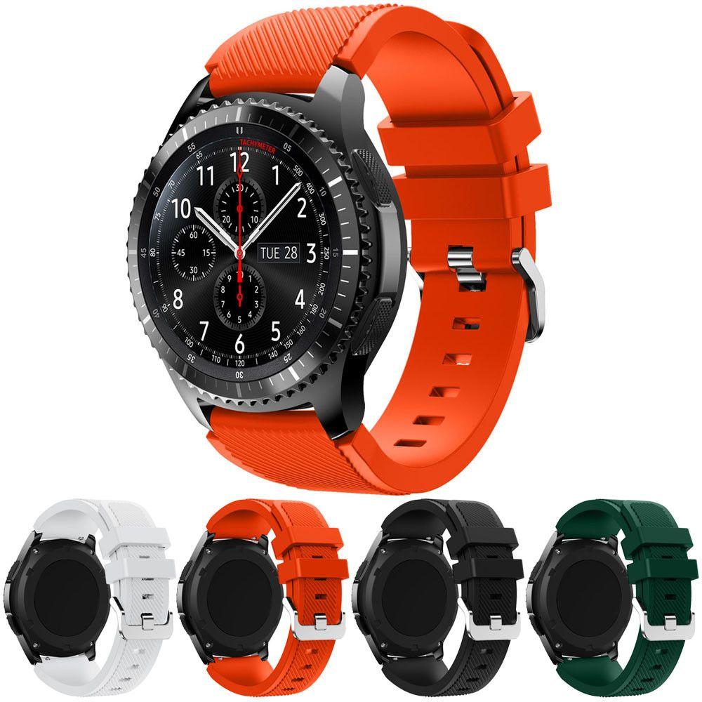 Uberlegene Neue Mode Sport Silikon Armband Uhrenarmband Fur Samsung Gear S3 Frontier Oktober 13 Armband Horloge Horlogeband Samsung