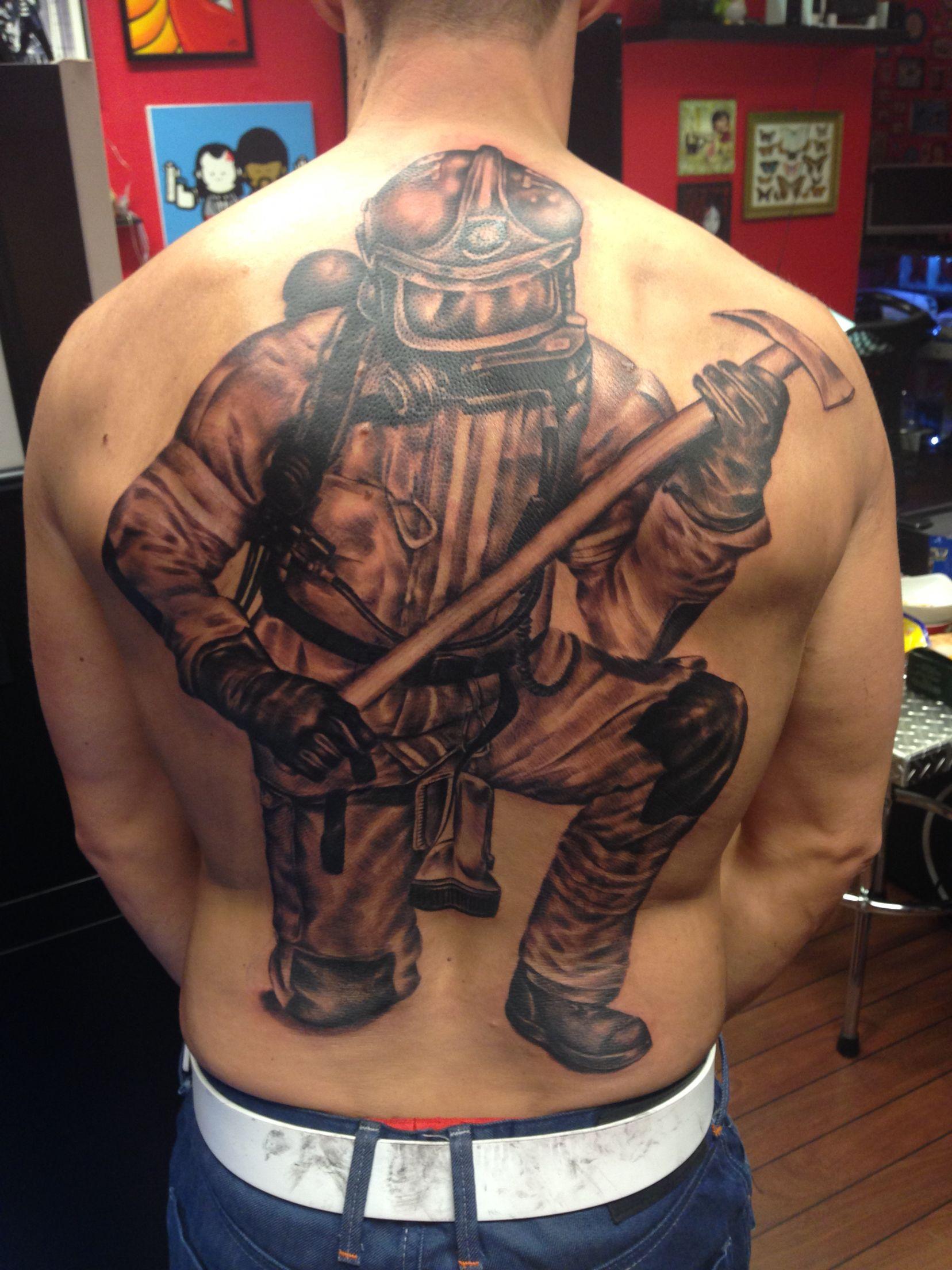 Fi fireman tattoo designs - Norwegian Firefighter Tattoo