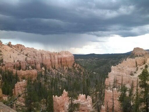 Storm clouds in bryce canyon