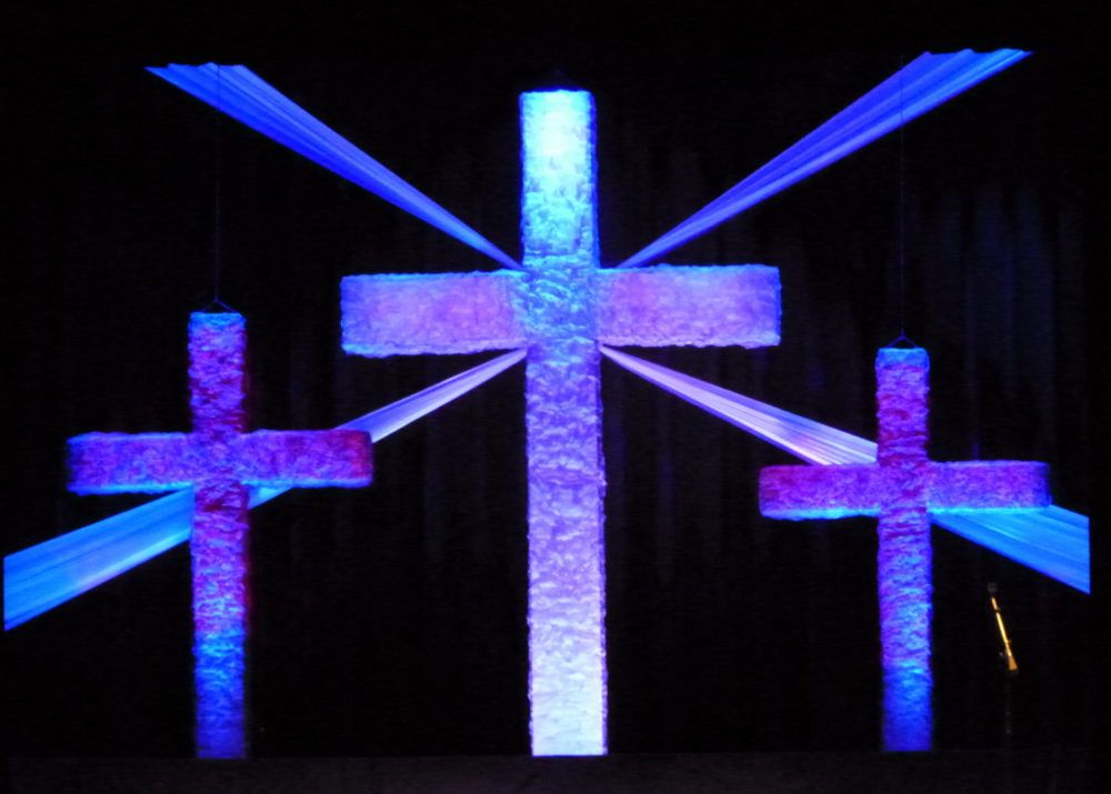 Soft Crosses Church Stage Design Church Display Church Stage