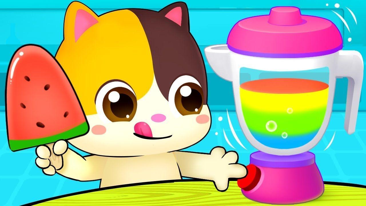 Rainbow Ice Pop Colors Song Vegetables Song Learn Colors Nursery Rhymes Kids Songs Babybus Youtube Kids Songs Color Songs Learning Colors