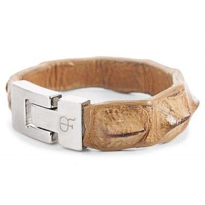 CROCODILE LEATHER BRACELET - Plácido de la Rosa, #crocodile #bracelets, pulsera de cocodrilo, leather #belts, tienda online, #accesorios para hombre, complementos de moda, http://shop.placidodelarosa.com/en/