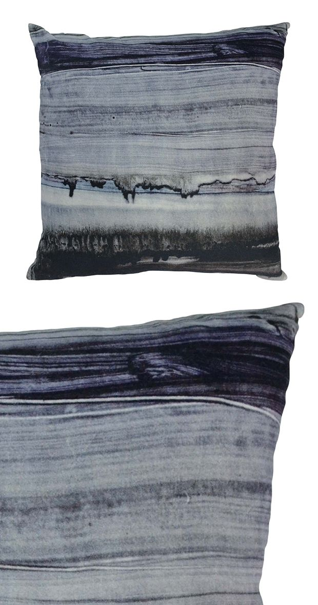 Abstract art meets asphalt inspiration. This black and white pillow is designed with a plush cotton-velvet cover and a 100% feather insert. Made in India.  Find the Asphalt Pillow, as seen in the Cemented Industrial Style Collection at http://dotandbo.com/collections/cemented-industrial-style?utm_source=pinterest&utm_medium=organic&db_sku=122636