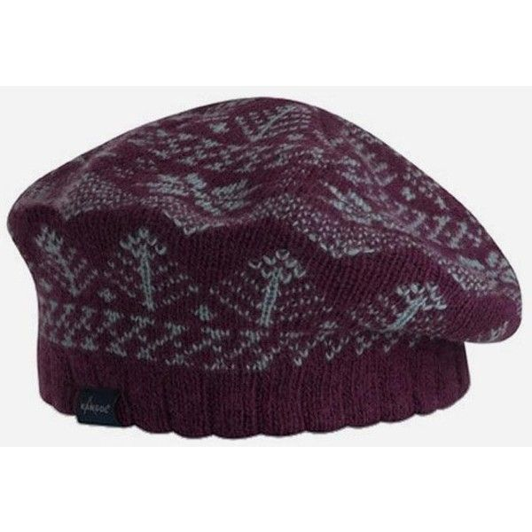 Kangol Womens Northern Fair Isle Beret - Purple ($15) ❤ liked on ...