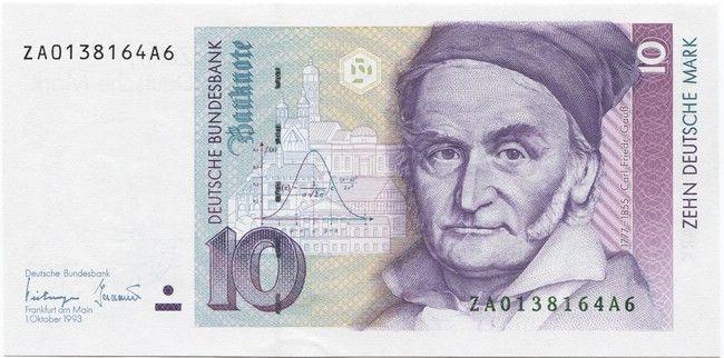 10 Deutsche Mark 1993 (Gauß) Deutschland BRD Serie ZA