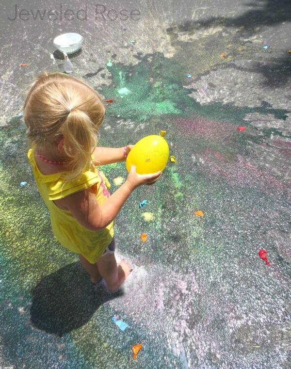 Summer Fun - Sidewalk SPLAT Painting ~ Growing A Jeweled Rose